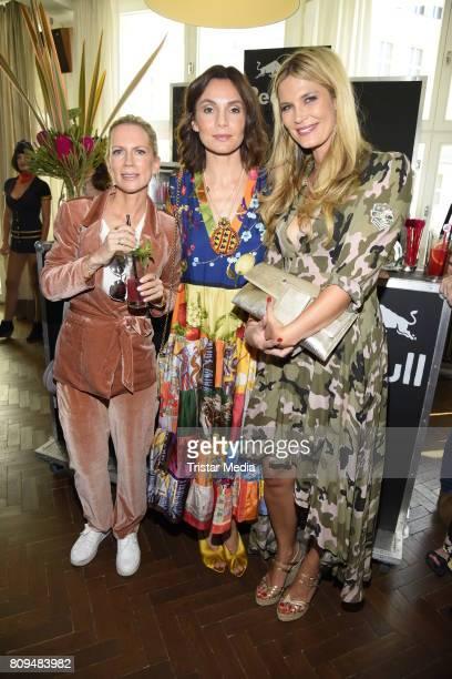 Tamara Graefin von Nayhauss Nadine Warmuth and Verena Wriedt attends the Klambt Fashion Cocktail in Berlin at Soho House on July 5 2017 in Berlin...