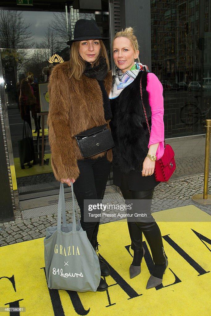 Tamara Greafin von Nayhauss and guest attend the Grazia Pop Up during Mercedes-Benz Fashion Week Autumn/Winter 2014/15 at Sra Bua Restaurant on January 15, 2014 in Berlin, Germany.