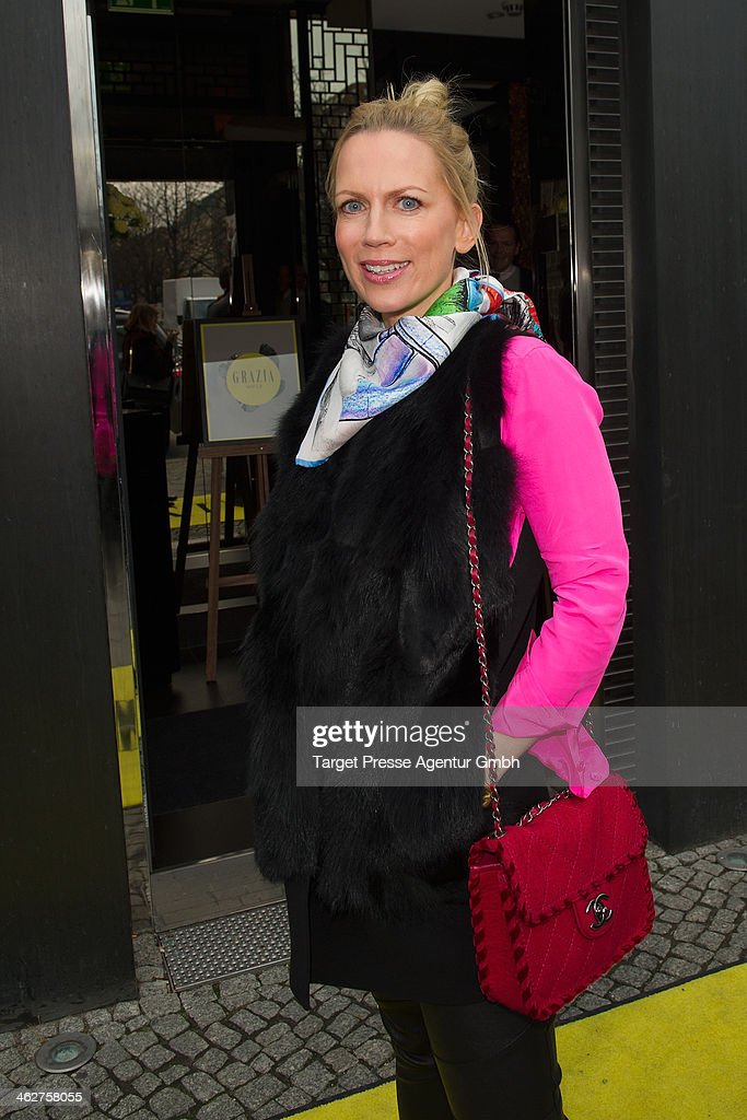 Tamara Greafin von Nayhauss attends the Grazia Pop Up during Mercedes-Benz Fashion Week Autumn/Winter 2014/15 at Sra Bua Restaurant on January 15, 2014 in Berlin, Germany.