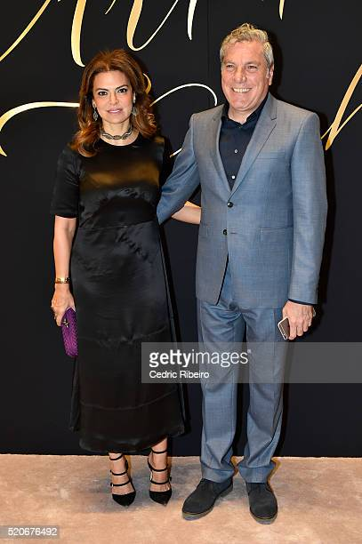 Tamara Jaber and Ali Jaber at the Burberry Art of the Trench Middle East event at Mall of the Emirates on April 12 2016 in Dubai United Arab Emirates