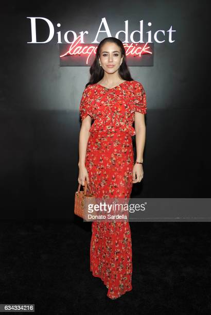 Tamara Kalinic attends Dior Beauty celebrates the launch of Dior Addict Lacquer Stick in the presence of Peter Philips in LA at Delilah on February 8...