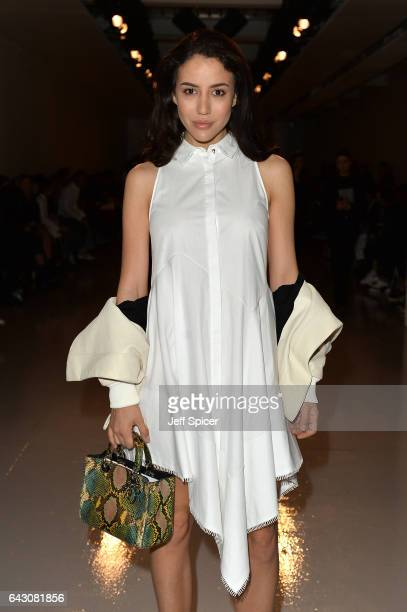 Tamara Kalinic attends the Antonio Berardi show during the London Fashion Week February 2017 collections on February 20 2017 in London England