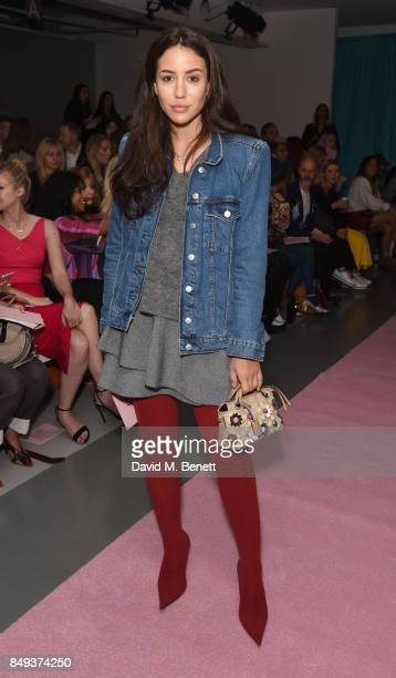 Tamara Kalinic attends the Emilio De La Morena SS18 Catwalk Show at BFC Show Space on September 19 2017 in London England
