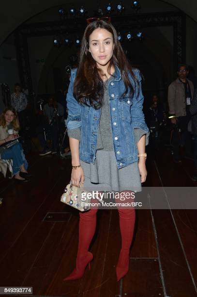 Tamara Kalinic attends the Natasha Zinko show during London Fashion Week September 2017 on September 19 2017 in London England
