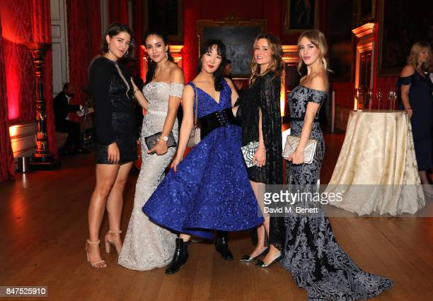Tamara Kalinic Shini Park Kelly Eastwood and Sarah Mikaela attend the official COUTURiSSIMO UK launch at The Orangery at Kensington Palace during...