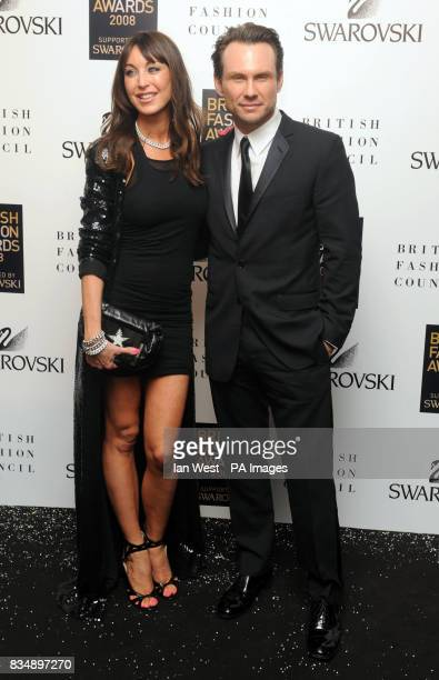 Tamara Mellon and Christian Slater arrives for the 2008 British Fashion Awards at the Royal Horticultural Hall 80 Vincent Square London