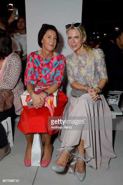Tamara Nayhauss and guest attend the Ewa Herzog show during the MercedesBenz Fashion Week Berlin Spring/Summer 2018 at Kaufhaus Jandorf on July 4...