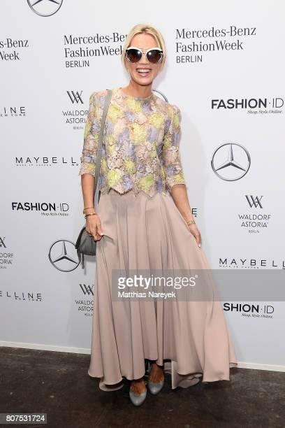 Tamara Nayhauss attends the Ewa Herzog show during the MercedesBenz Fashion Week Berlin Spring/Summer 2018 at Kaufhaus Jandorf on July 4 2017 in...