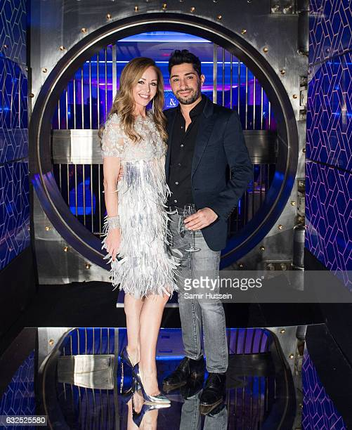 Tamara Ralph and Michael Russo attend the RalphRusso Haute Couture After Party Spring Summer 2017 show as part of Paris Fashion Week on January 23...