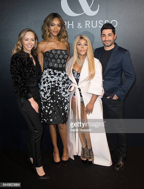 Tamara Ralph Jourdan Dunn Lil Kim and Michael Russo attends the Ralph Russo Haute Couture Fall/Winter 20162017 show as part of Paris Fashion Week on...