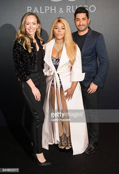 Tamara Ralph Lil Kim and Michael Russo attend the Ralph Russo Haute Couture Fall/Winter 20162017 show as part of Paris Fashion Week on July 4 2016 in...