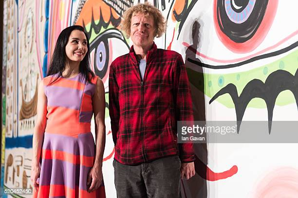 Tamara Rojo and Grayson Perry launch the English National Ballet new production 'She Said' at Sadlers Wells Theatre on April 11 2016 in London England