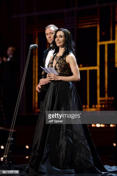 Tamara Rojo on stage during The Olivier Awards 2017 at Royal Albert Hall on April 9 2017 in London England