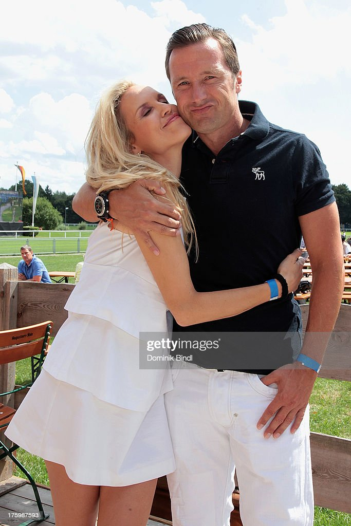 Tamara Sedmak and Norbert Dobeleit attend the EAGLES charity homepage relaunch at Galopprennbahn Riem on August 11, 2013 in Munich, Germany.