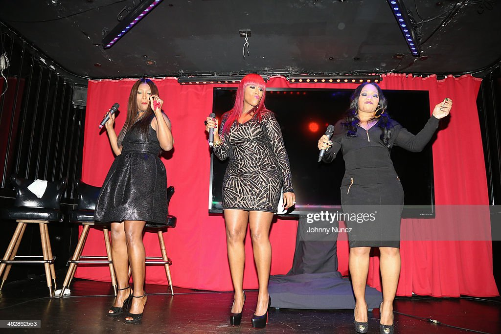 Tamara 'Taj' George, Cheryl 'Coko' Clemons and Leanne 'Lelee' Lyons perform at the 'SWV Reunited' series premiere at Jazz Room at the General on January 15, 2014 in New York City.