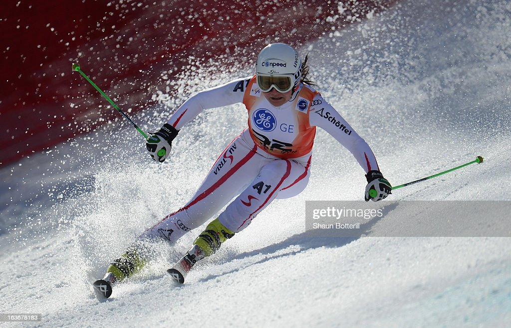 Tamara Tippler of Austria competes in the Ladies' Giant Slalom at Rosa Khutor Alpine Center on March 14, 2013 in Sochi, Russia.