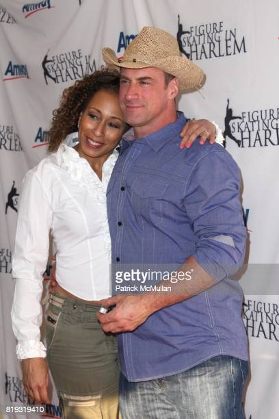 Tamara Tunie and Chris Meloni attend The 2010 SKATING WITH THE STARS A Benefit Gala for FIGURE SKATING IN HARLEM at Wollman Rink on April 5 2010 in...
