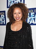 Tamara Tunie attending the Broadway Opening Night Performance of 'LEAP OF FAITH' on 4/26/2012 at the St James Theatre in New York City �� Walter...