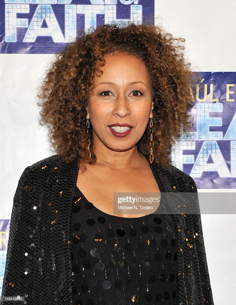 Tamara Tunie attends the 'Leap Of Faith' Broadway Opening Night at St. James Theatre on April 26, 2012 in New York City.