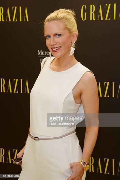 Tamara von Nayhauß arrives for the Opening Night by Grazia fashion show during the MercedesBenz Fashion Week Spring/Summer 2015 at Erika Hess...