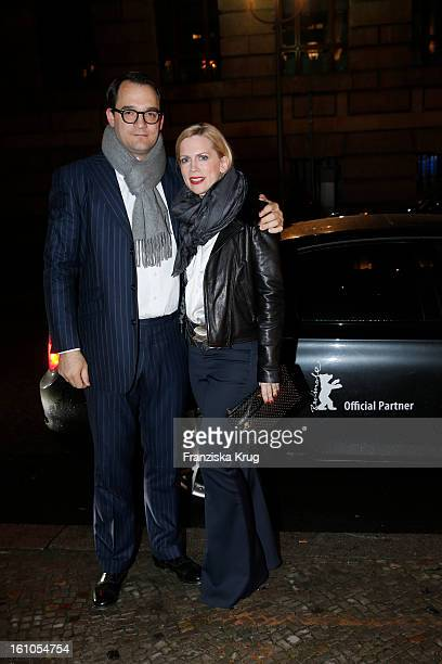 Tamara von Nayhauss and Alexander Klackreuth attend the 'Festival Night by Bunte and BMW' at the 63rd Berlinale International Film Festival at the...