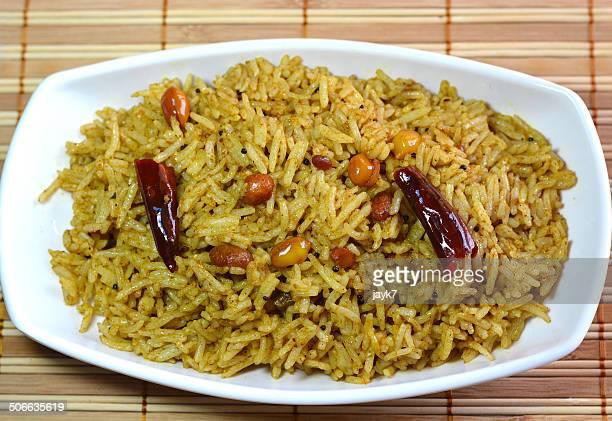 Tamarind rice or Puliyodharai