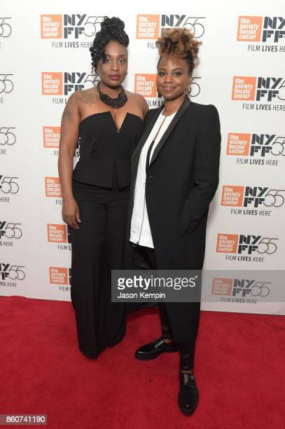 TamarKali and Director Dee Rees attends the 55th New York Film Festival screening of 'Mudbound' at Alice Tully Hall in New York on October 12 2017