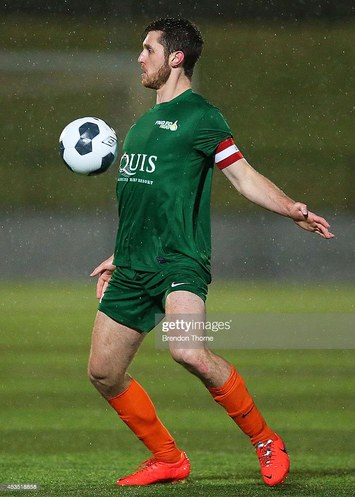 Tamas Maffey-Stumpe of the Heat controls the ball during the FFA Cup match between Sydney United 58 FC and the FNQ Heat at Sydney United Sports Centre on August 12, 2014 in Sydney, Australia.