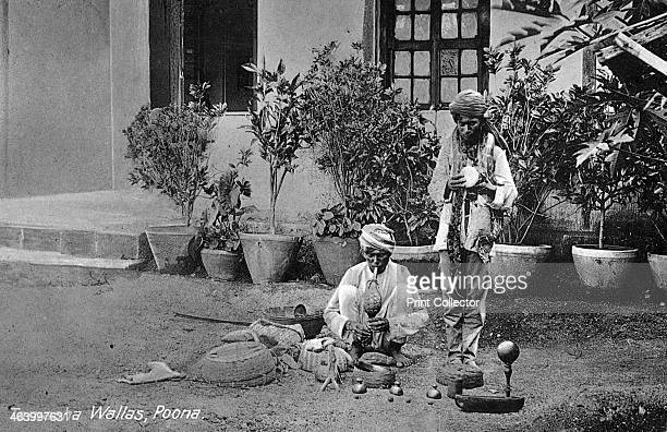 'Tamasha Wallas' Pune India early 20th century Two Indian snake charmers