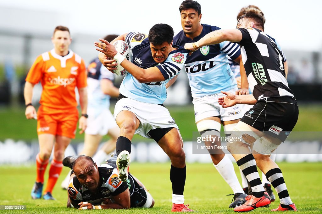 Tamati Tua of Northland charges forward during the round eight Mitre 10 Cup match between Northland and Hawke's Bay at Toll Stadium at Toll Stadium on October 7, 2017 in Whangarei, New Zealand.