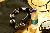 Tambourine and mineral water
