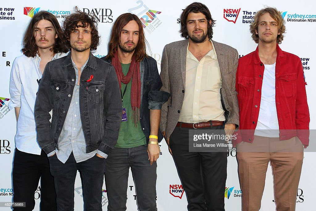 <a gi-track='captionPersonalityLinkClicked' href=/galleries/search?phrase=Tame+Impala&family=editorial&specificpeople=5649903 ng-click='$event.stopPropagation()'>Tame Impala</a> arrive at the 27th Annual ARIA Awards 2013 at the Star on December 1, 2013 in Sydney, Australia.