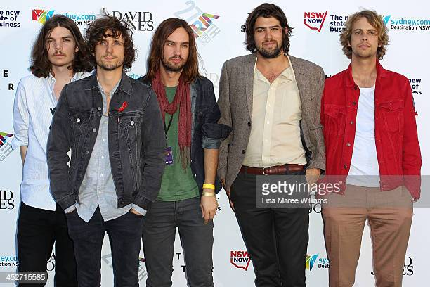 Tame Impala arrive at the 27th Annual ARIA Awards 2013 at the Star on December 1 2013 in Sydney Australia
