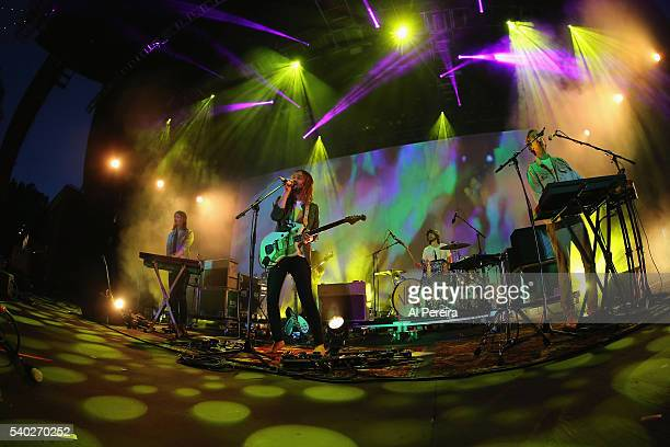 Tame Impala perform a benefit concert for Celebrate Brooklyn at Prospect Park Bandshell on June 14 2016 in New York City