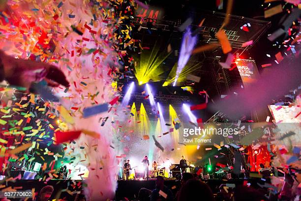 Tame Impala perform in concert during the second day of Primavera Sound 2016 on June 2 2016 in Barcelona Spain