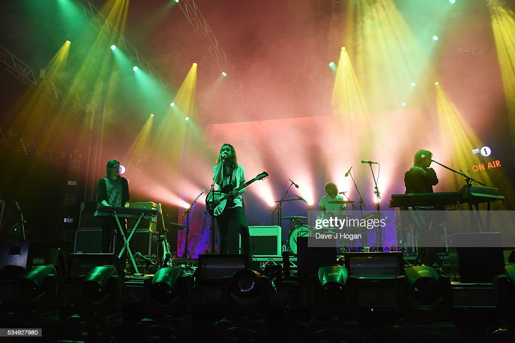 Tame Impala performs during day 1 of BBC Radio 1's Big Weekend at Powderham Castle on May 28, 2016 in Exeter, England.