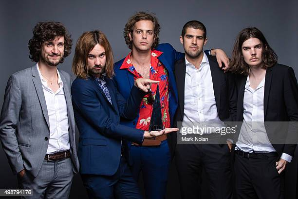 Tame Impala pose for a portrait with the ARIA for Album of the Year during the 29th Annual ARIA Awards 2015 at The Star on November 26 2015 in Sydney...