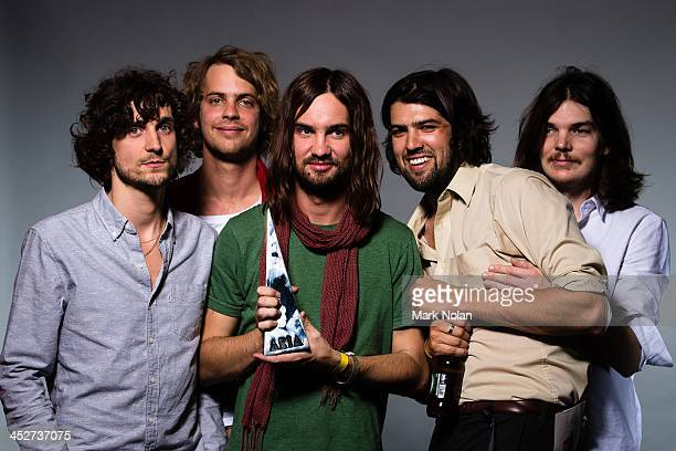 Tame Impala poses for a portrait during the 27th Annual ARIA Awards 2013 at the Star on December 1 2013 in Sydney Australia