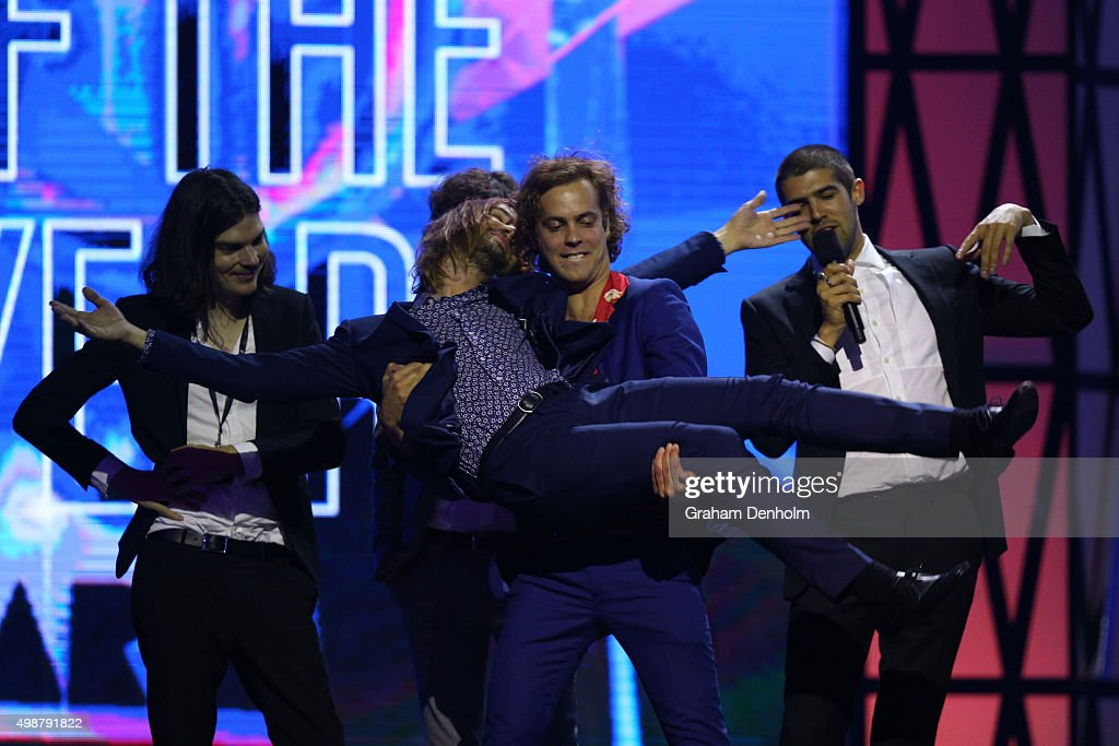 Tame Impala win Album Of The Year during the 29th Annual ARIA Awards 2015 at The Star on November 26 2015 in Sydney Australia