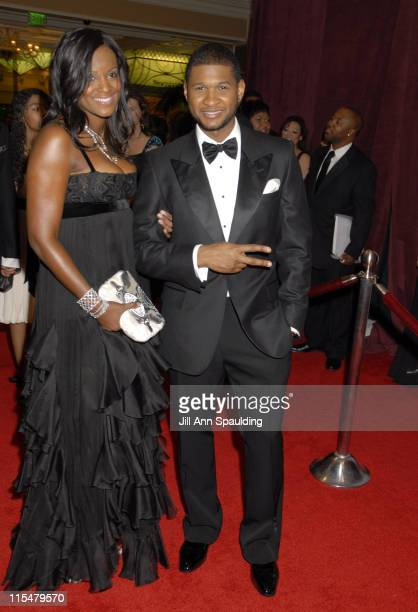Tameka Foster and Usher Raymond during 2007 Trumpet Awards Celebrate African American Achievement at Bellagio Hotel in Las Vegas Nevada United States