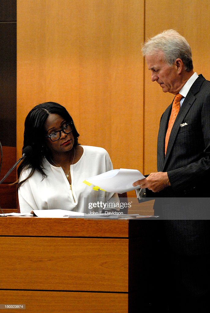 <a gi-track='captionPersonalityLinkClicked' href=/galleries/search?phrase=Tameka+Foster&family=editorial&specificpeople=4117530 ng-click='$event.stopPropagation()'>Tameka Foster</a> attends a hearing to discuss child custody with her ex-husband Usher Raymond at Fulton County State Court on August 15, 2012 in Atlanta, Georgia. Usher and Tameka, who officially divorced in 2009, are fighting over custody of their two young sons.