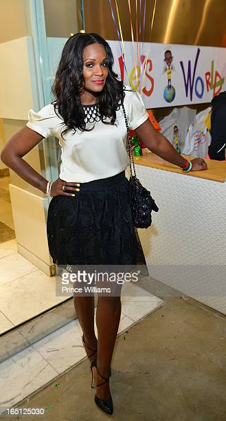 Tameka Foster attends the birthday and foundation lanuch Kile's World to honor Kile Glover at the Woodruff Arts Center on March 29 2013 in Atlanta...