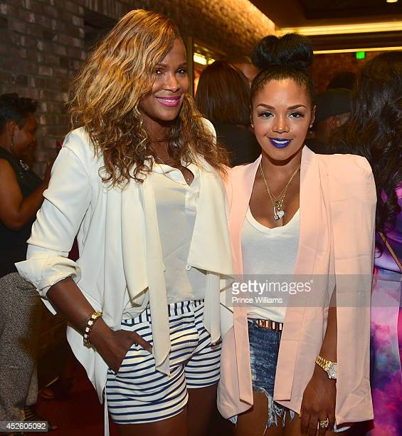 Tameka Raymon and Rasheeda attend the screening of Universal Pictures' LUCY at Cinebistro on July 23 2014 in Atlanta Georgia