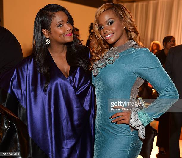 Tameka Raymond and Christina Johnson attend The Foundry At Puritan Mill on October 22 2014 in Atlanta Georgia
