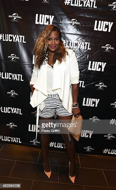 Tameka Raymond attends Universal PicturesÕ 'LUCY' Atlanta screening at Cinebistro on July 23 2014 in Atlanta Georgia