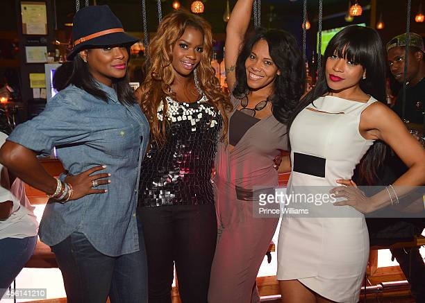 Tameka Raymond Christina Johnson Sheree Buchanan and Monyetta Shaw attend the Scandal Premiere Party at Boogalou Lounge on September 25 2014 in...