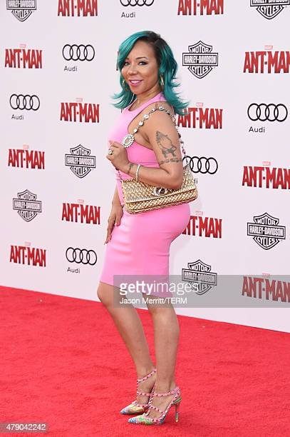 Tameka 'Tiny' CottleHarris arrives at the Los Angeles Premiere of Marvel Studios 'AntMan' at Dolby Theatre on June 29 2015 in Hollywood California