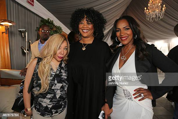 Tameka 'Tiny' CottleHarris Sonja Norwood and Tina Douglas attend MILF Celebration Of Entertainment Mothers on February 6 2015 in Beverly Hills...