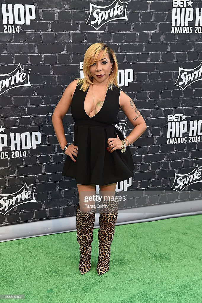 Tameka 'Tiny' Harris attends the BET Hip Hop Awards 2014 at Boisfeuillet Jones Atlanta Civic Center on September 20 2014 in Atlanta Georgia