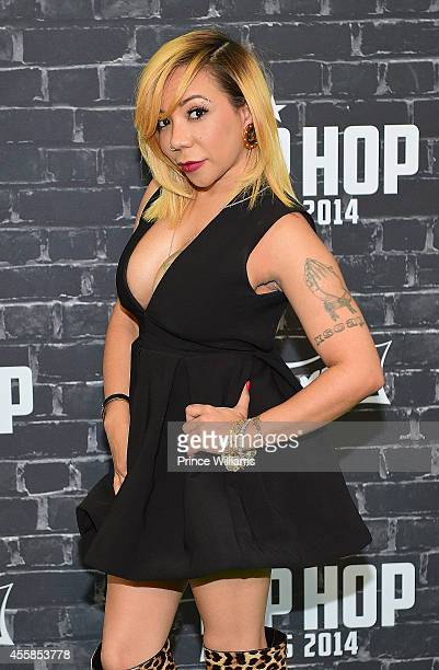 Tameka 'Tiny' Harris attends The BET Hip Hop Awards at Boisfeuillet Jones Atlanta Civic Center on September 20 2014 in Atlanta Georgia